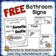 Preschool bathroom signs Reminder Free Bathroom Visuals Kindergarten Behavior Classroom Kindergarten Preschool Pinterest Free Bathroom Visuals Kindergarten Behavior Classroom
