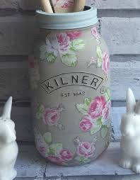 Decorative Jars And Vases Decoupage 100ltr Kilner Jar decorative vase display vessel eBay 60