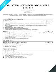 Maintenance Technician Resume Sample Maintenance Tech Resume For Technician Large By Glen Perfect General