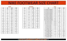 Nike Boys Size Chart Nike Kids Size Chart