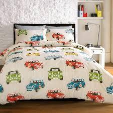 bedding minis mini cooper retro cars cream beige duvet cover quilt bedding set