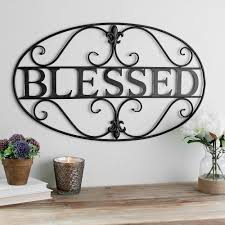 metal wall art shabby chic