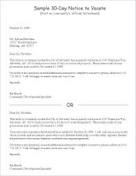template 30 day notice to vacate letter landlord template move out thirty eviction forms lovely