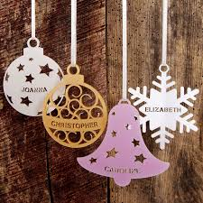 Personalised Christmas Tree Decoration By Urban Twist Personalised Christmas Gifts Australia