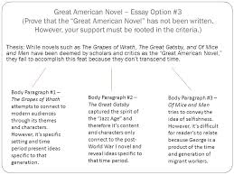 great american novel essay option select a criteria to prove  3 great