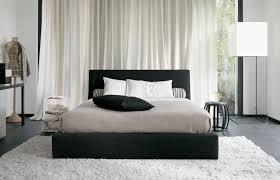Bedrooms Fur Rug in Classy Bedroom elegant bedroom with black