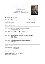 10 Resume Sample For Philippines Emails Job Employment Application