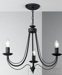 philly satin black 3 light chandelier franklite lighting