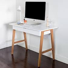 small office computer desk. Nathan Home 51101 Telos Office Computer Desk With Drawer Or Makeup Vanity Table, For Small Spaces, White Modern Finish, Light Wood Legs C