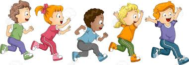 Image result for kids running clipart