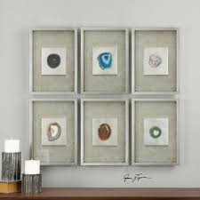 agate stone silver wall art s 6  on framed 10 silver squares wall art with alternative wall decor taylor ray decor interior design