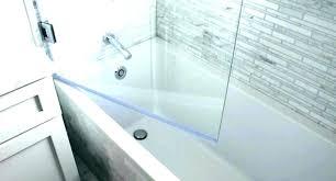 tub splash guard shower bathtub glass frameless door