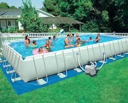 Swimming Pool Rectangular X X Ultra Frame Pool Set Intex Inflatable