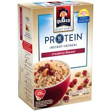 4 pack quaker select starts instant oatmeal cranberry almond 6 packets walmart