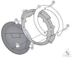 Givi bf32 tanklock tank ring for kawasaki z1000