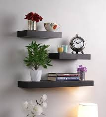 Where To Buy Floating Wall Shelves Gorgeous Buy Floating Wall Shelf Set Of 32 In Black Finish By DecorNation