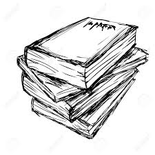 1300x1300 vector drawing a pile of books royalty free cliparts vectors and