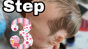 tutorial step three of painting hair for reborn baby dolls nlovewithreborns2016