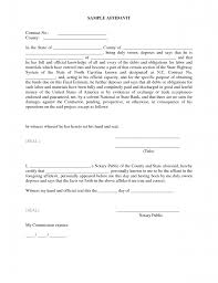 Affidavit Sample Format Affidavit Template Resume Trakore Document Templates 4