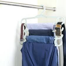 multi y anti skid trousers storage rack functional wardrobe pants organizer hangers for closet