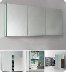 Epic Three Mirror Medicine Cabinet 48 In Tri Fold Medicine Cabinet ...