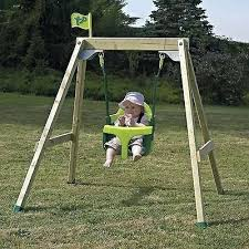 outdoor baby swing set single infant seat stand alone outdoor baby swing