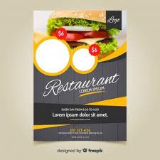 Flyer Design Food Restaurant Flyer Vectors Photos And Psd Files Free Download