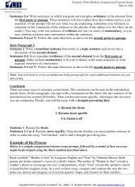 Point By Point Method Comparison Contrast Essay Step By