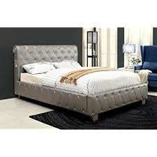 acrylic bedroom furniture. Furniture Of America Chloe Acrylic Tufted Leatherette Platform Bed With  Bluetooth Speakers, Queen, Silver Acrylic Bedroom Furniture E