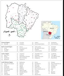 Mato Grosso do Sul State political division in municipalities and...