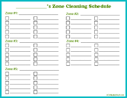cleaning schedule printable how to do zone cleaning free printable zone cleaning schedule