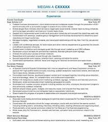 Event Planner Resume Objective Events Coordinator Resume Sample Resumes Misc Livecareer
