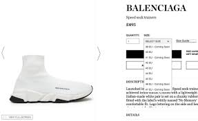 Balenciaga Speed Trainer Size Chart All Balenciaga Speed Trainer Sizing Guide Setting An Android