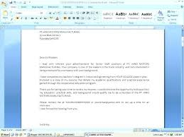 Email Example For Sending Resume And Cover Letter How To Write An ...