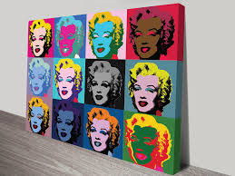 one of two prints of the famous marilyn monroe design by andy warhol this one