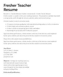 How To Write A Resume For Teaching Resumes For Teaching Positions