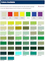 Americana Acrylic Paint Color Chart 25 Prototypical Deco Art Americana Acrylic Paint Chart