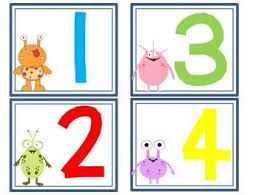 Abc And Number Chart Monster Abc And Number Cards Numbers Number Chart 1 20