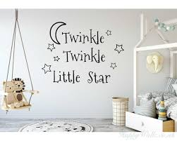 >twinkle twinkle little star decals stars nursery decor baby room  twinkle twinkle little star