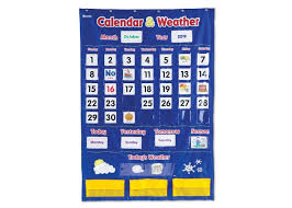 Calendar Pocket Chart Set Calendar Weather Pocket Chart