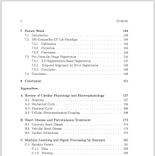 Thesis Table Of Contents Sample Apa