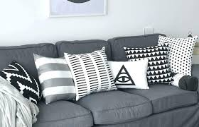 striped throw pillows black and white couch pillows striped black and white decorative pillows for grey