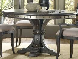furniture vintage west dramatic dark charcoal 54 wide round dining table 5700