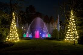the fountain show during at longwood gardens