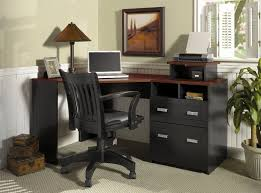 cool home office ideas retro. Formal Home Office Ideas With Black Corner Computer Desk And Wooden Retro Swivel Chair Cool