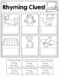 Detecting Rhyming Words Worksheets Fairy Activities Printables For ...