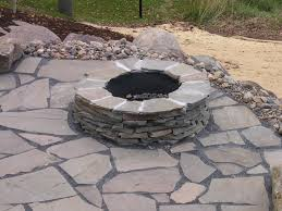 Stacked Stone Fire Pit garden design garden design with house fire pit ideas on 4422 by xevi.us