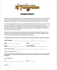 printable catering contract form wedding catering contract sample