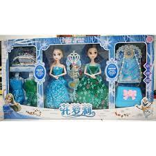 Bộ đồ chơi combo 2 búp bê Elsa và Anna thay váy - Công chúa Frozen có