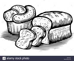 loaf of bread drawing. Wonderful Drawing Loaf Of Bread Drawing A Loaves Illustrated In Black And  White Stock To T